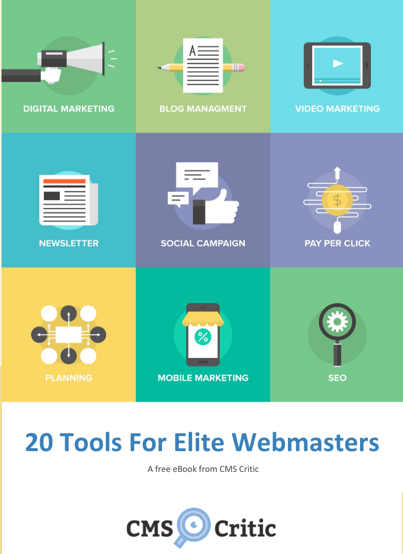 20 Tools for Webmasters – A free eBook from CMS Critic!