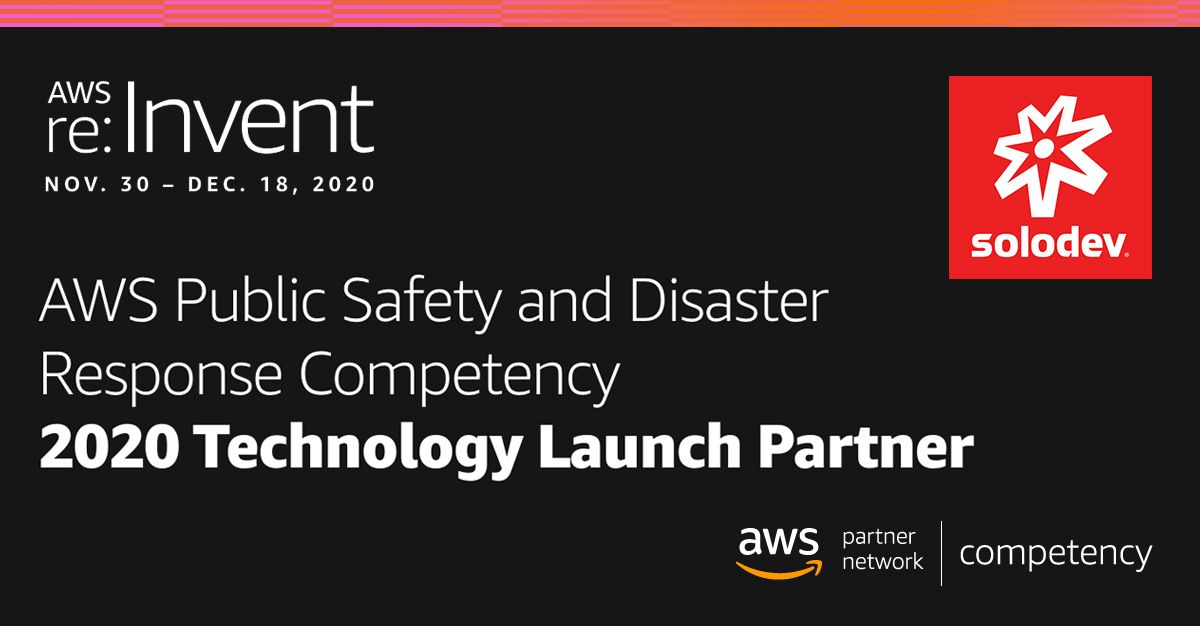 Solodev AWS Public Safety and Disaster Response Competency Banner