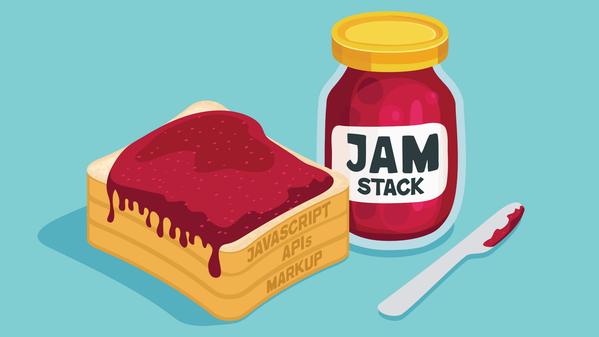 Jar of Jam and a toast